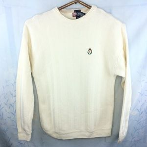 Chaps Hand Framed Crew Neck Sweater Large